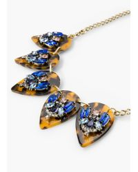 Mango - Blue Faceted Crystal Necklace - Lyst