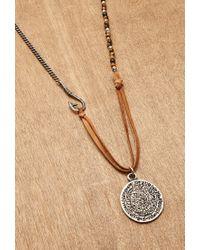Forever 21 | Brown Ettika Phaistos Coin Necklace for Men | Lyst