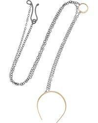 Melissa Joy Manning - Black Oxidized Silver and 14karat Gold Horseshoe Necklace - Lyst