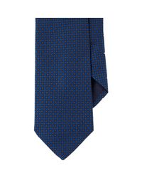 Barneys New York - Blue Neat Jacquard Neck Tie for Men - Lyst