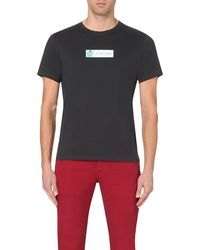 Paul Smith | Blue Logo-print Cotton-jersey T-shirt for Men | Lyst