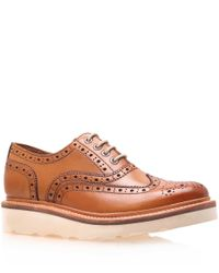 Foot The Coacher | Brown Tan Leather Emily Wedge Wingtip Brogues for Men | Lyst