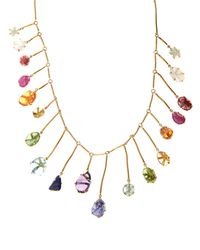 Pippa Small - Multi-stone & Yellow-gold Necklace - Lyst