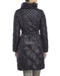 Tahari | Black Diamond Quilted Long Down Coat | Lyst