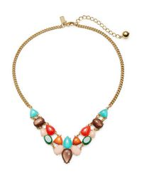 kate spade new york | Multicolor Fine Art Charm Collar Necklace | Lyst