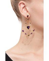 Ara Vartanian | Purple Amethyst And Black Diamond Drop Earrings | Lyst