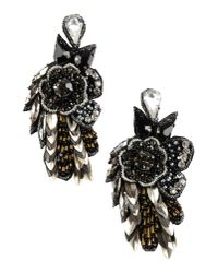 Deepa Gurnani | Black Earrings | Lyst