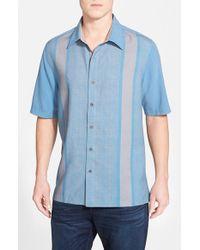 Nat Nast | Blue 'konica' Regular Fit Silk & Cotton Sport Shirt for Men | Lyst