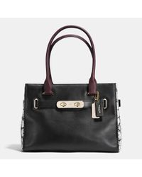 COACH - Black Swagger Color-Blocked Tote - Lyst