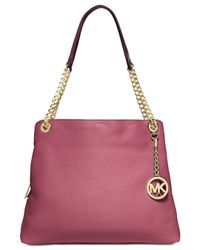 Michael Kors | Metallic Michael Jet Set Chain Item Large Shoulder Tote | Lyst