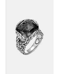 John Hardy | Gray 'Classic Chain - Batu' Braided Ring | Lyst