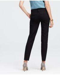 Ann Taylor | Black Double Cloth Ankle Pants | Lyst