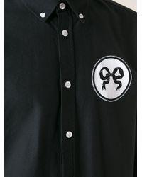Soulland - Black Ribbon Print Shirt for Men - Lyst