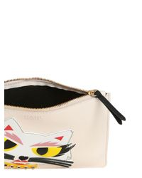 Karl Lagerfeld | Natural Monster Choupette Coated Canvas Pouch | Lyst