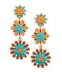Kate Spade | Multicolor Bold Blooms Chandelier Earrings | Lyst