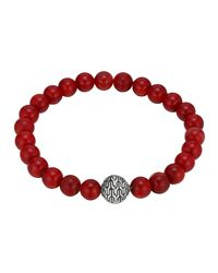 John Hardy - Metallic Large Coral Beaded Bracelet With Magnetic Clasp for Men - Lyst