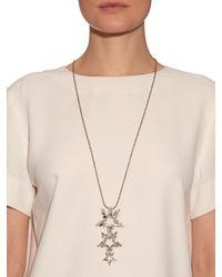 Erickson Beamon - Metallic Crystal-embellished Star Necklace - Lyst