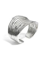 John Hardy - Metallic Bamboo Wide Flex Cuff - Lyst