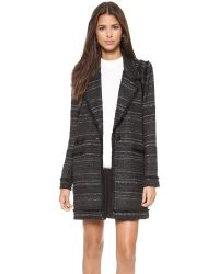 Rachel Zoe | Aria Long Fringe Coat  Black | Lyst