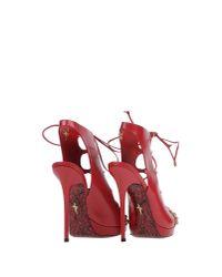 Cesare Paciotti - Red Sandals - Lyst