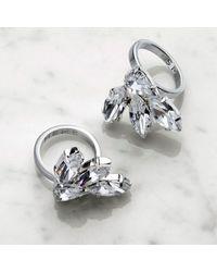 Mews London - Metallic Crystal Fan Ring B - Lyst