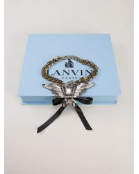 Lanvin | Metallic Eagle Necklace | Lyst