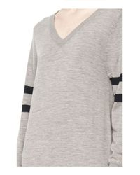 Alexander Wang | Gray Rugby Knit Column Dress | Lyst