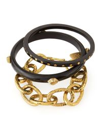 Ashley Pittman | Black Mikufu Dark Horn Bracelets | Lyst