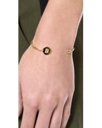 Tai - Metallic Letter Open Cuff Bracelet - S - Lyst