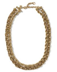 Banana Republic | Metallic Woven Chain Necklace | Lyst