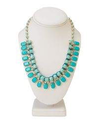 Forever 21 | Blue Faux Gem And Rhinestone Necklace | Lyst