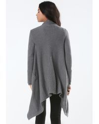 Bebe - Gray Heathered Ribbed Cover Up - Lyst