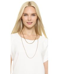 Madewell - Metallic Lisa Chain Choker Necklace - Gold Ox - Lyst