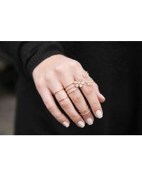 Anne Sisteron - Pink 14kt Rose Gold Diamond Bars Chain Ring - Lyst