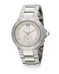 Fendi - Metallic High Speed Stainless Steel Cream Dial Watch for Men - Lyst