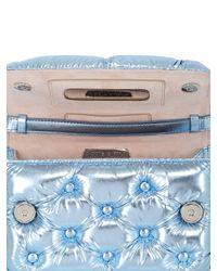Benedetta Bruzziches - Blue Carmen Quilted Laminated Shoulder Bag - Lyst