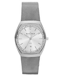 Skagen | Metallic 'asta' Slim Barrel Mesh Strap Watch | Lyst