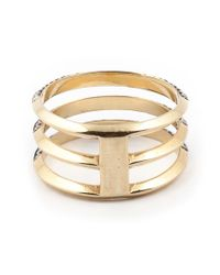 Ileana Makri - Metallic Three Band Ring - Lyst