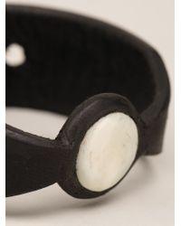 Rick Owens | Black Buffalo Bone Bracelet | Lyst