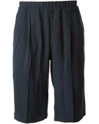 Giorgio Armani   Blue Pleated Shorts for Men   Lyst