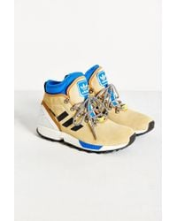 Adidas | Blue Zx Flux Nubuck Sneakerboot | Lyst