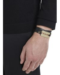 McQ | Black Razor Leather Wrap Bracelet for Men | Lyst