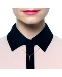 Lulu Frost | Metallic Code 18kt Question Mark Necklace | Lyst