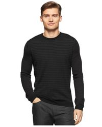 Calvin Klein | Black Multi-scale Stripe Sweater for Men | Lyst