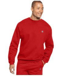 Champion | Red Men's Fleece Pullover for Men | Lyst