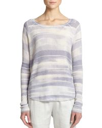 VINCE | Purple Wool & Cashmere Striped Sweater | Lyst