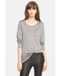 Vince - Gray Long Sleeve Top - Lyst