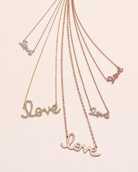 Sydney Evan - Metallic Gold Love Pendant Necklace - Lyst