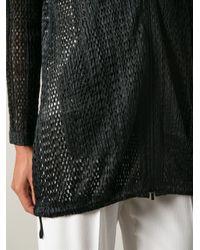 Pleats Please Issey Miyake - Black Woven Jacket - Lyst