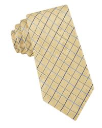 MICHAEL Michael Kors | Yellow Medici Grid Silk Tie for Men | Lyst